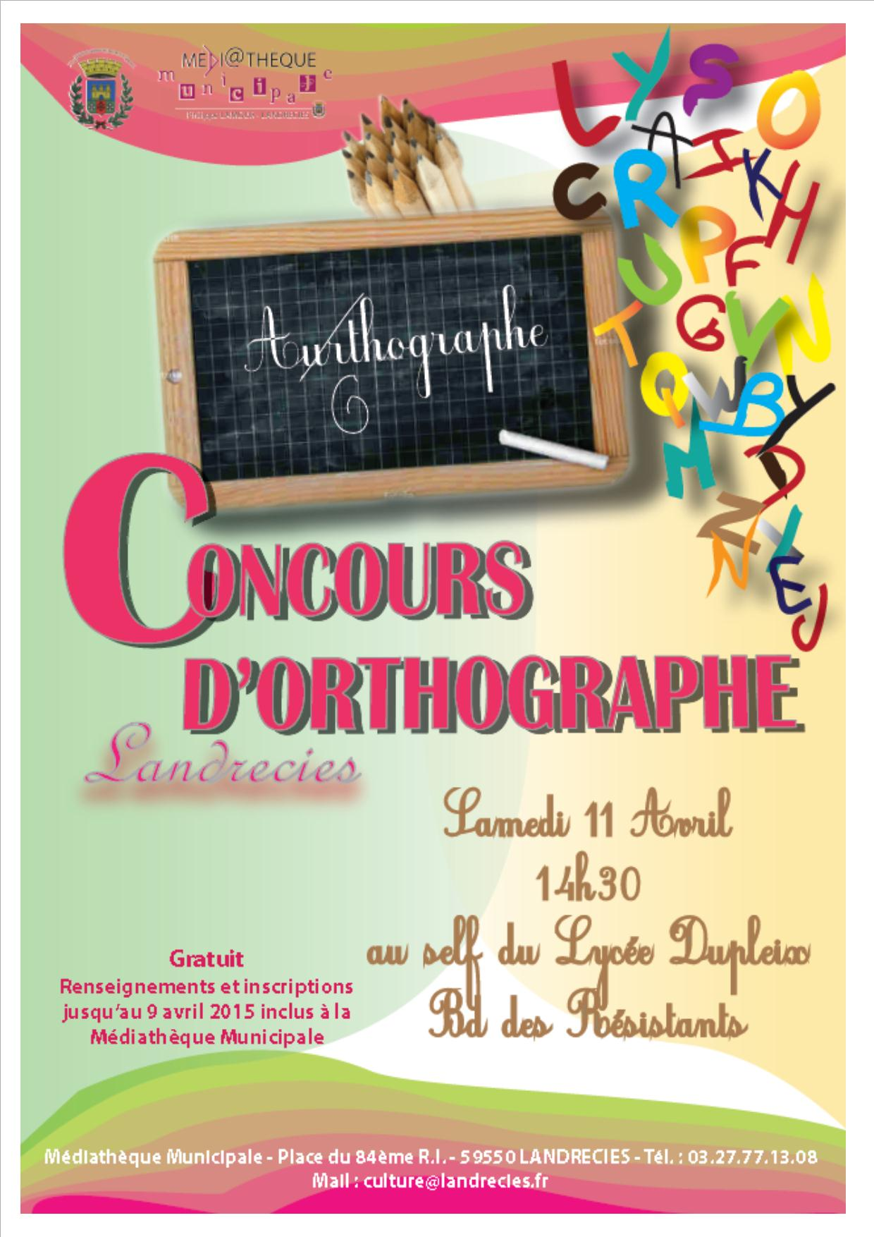 concours orthographe