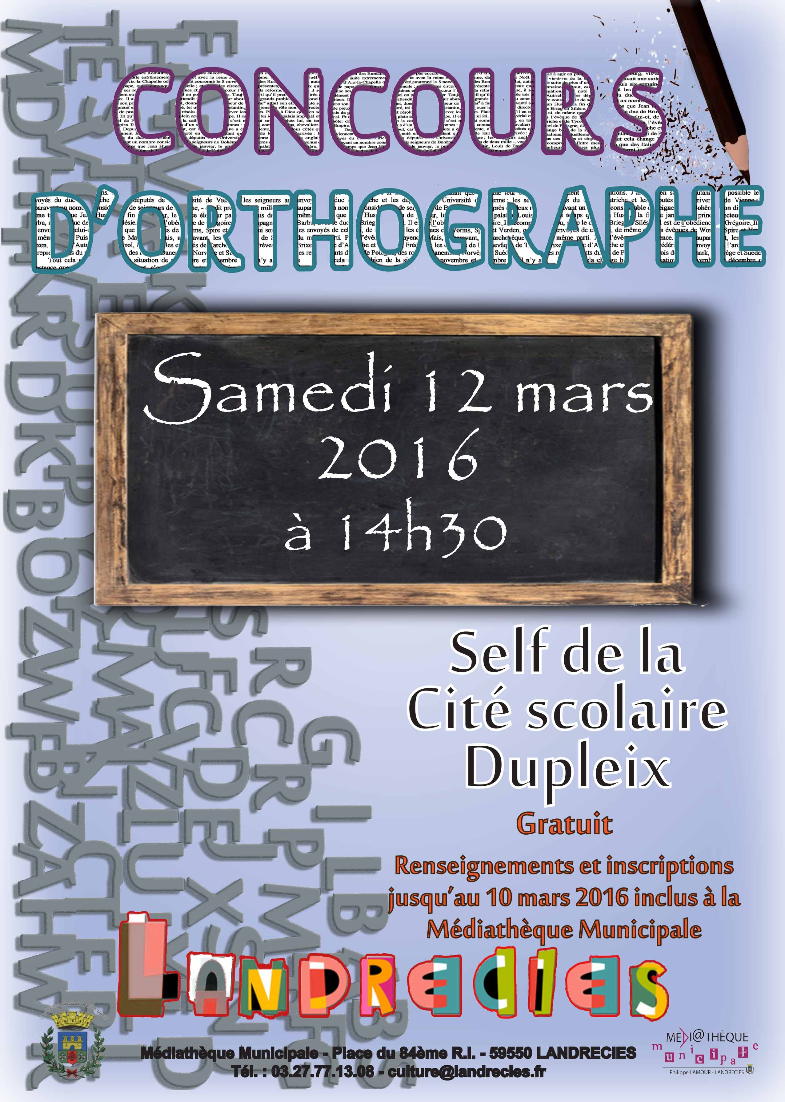 Concours dorthographe